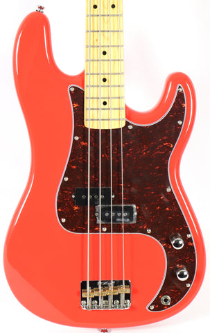 Fretking Vintage V4M-FR Firenza Red Electric Bass Guitar Wilkinson