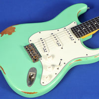 Vintage Icon Series V6 Relic Strat Distressed Ventura Green Electric Guitar