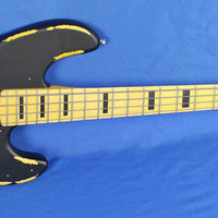 Vintage Icon Series VJ74 Relic Electric Bass Guitar Wilkinson Distressed Black