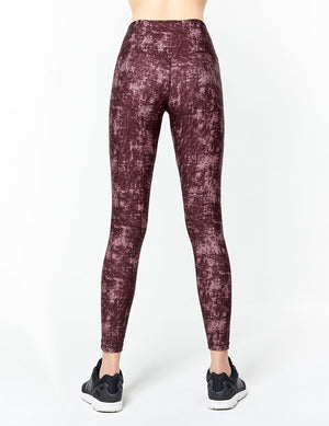easyoga Lespiro Glossy Slim Tights2 - FD9 Mottled wall flower-Brown