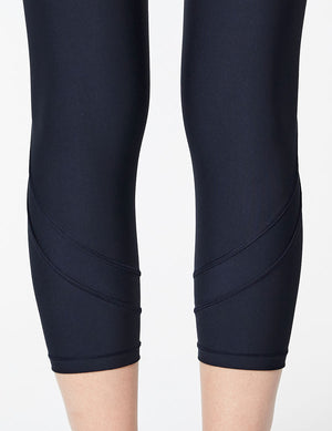 easyoga Lespiro Ripples Cropped Tights - B23 Black blue