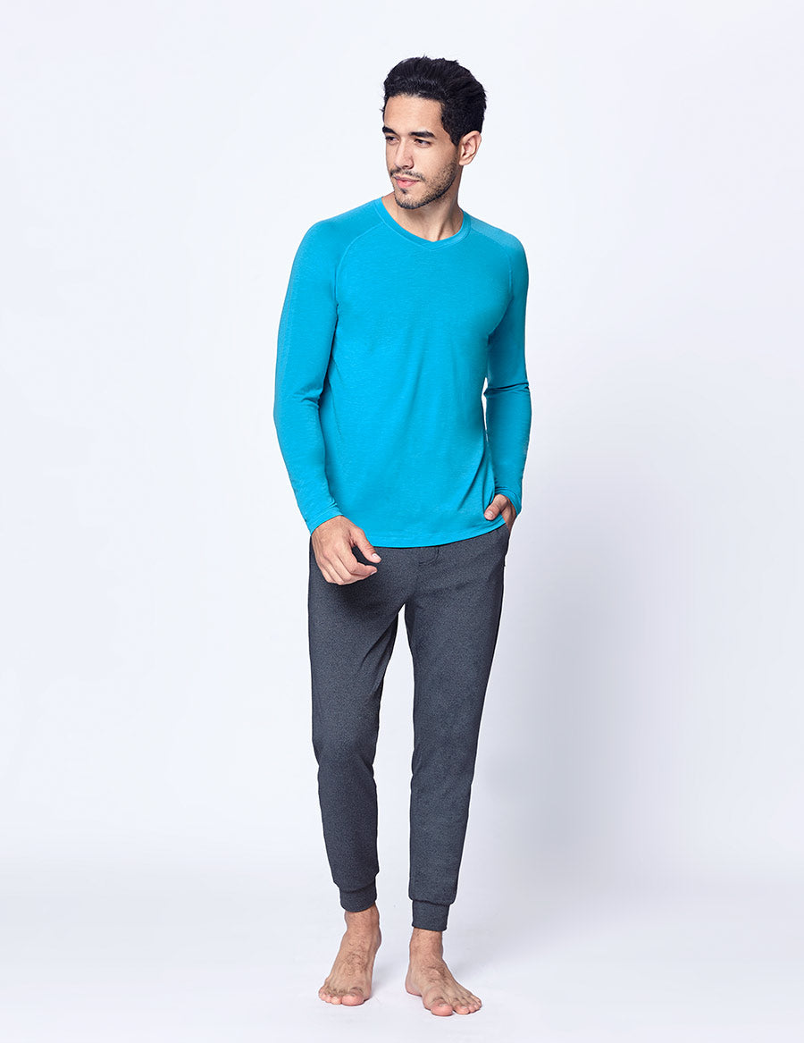 easyoga LA-VEDA Multipro Men's Life Long  Sleeve - B27 Caribbean Blue
