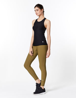 easyoga Lespiro Glossy Slim Tights1 - X10 Dead Leaf Green/Light Green
