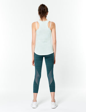 easyoga Lespiro Move Up Cropped Tights1 - D64 Aquamarine  Stripe