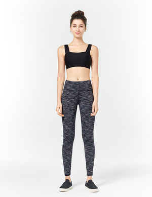 easyoga LA-VEDA Conflux Tights3 - D51 Gray White Black Stripe