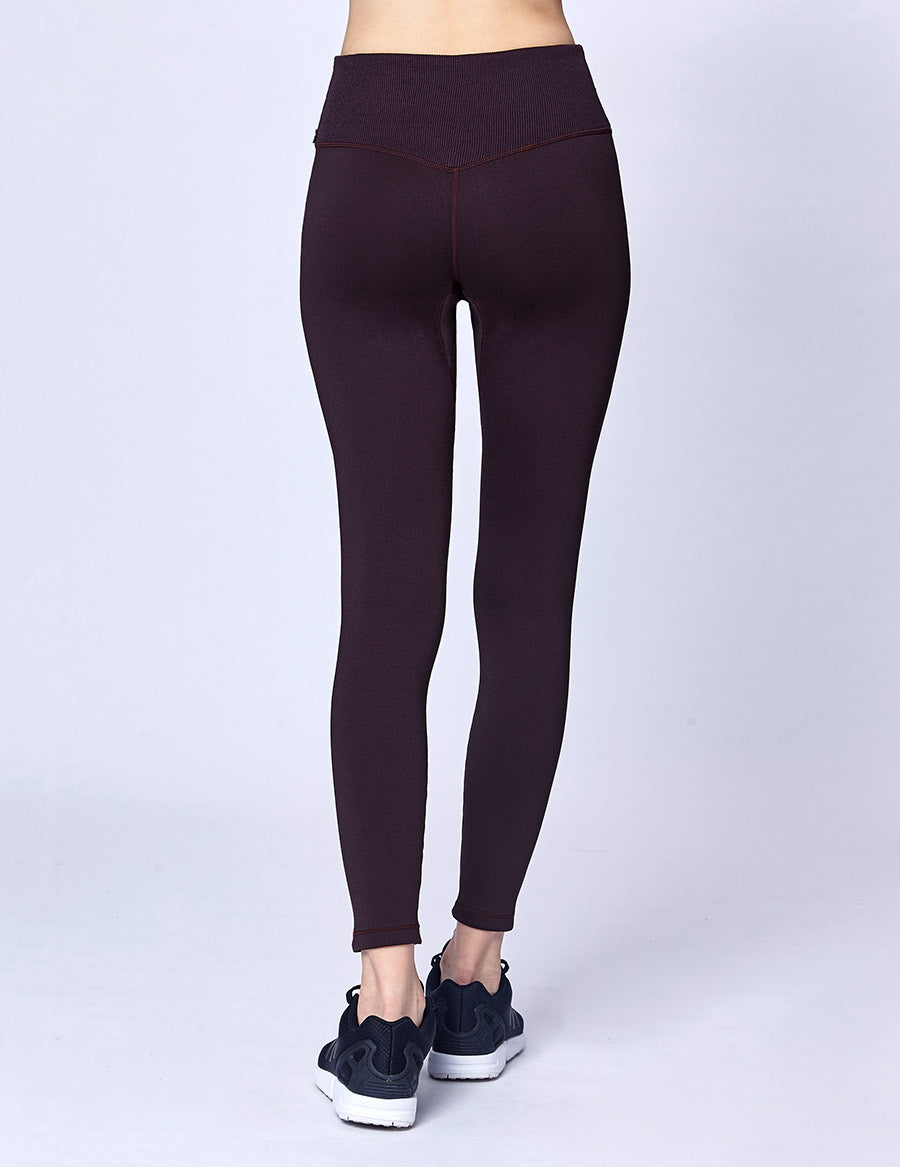 easyoga Lespiro Slim-Fit Sheen Leggings - M32 M-Mature Grape