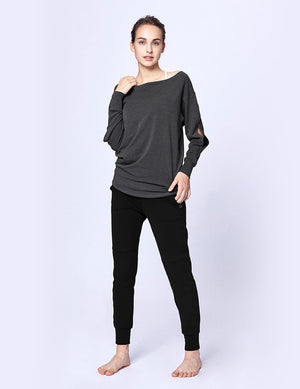easyoga LA-VEDA Multipro Made Me Long  Sleeve - M29 M-Mid Gray