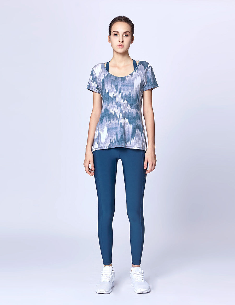 easyoga Lespiro Airy Run Top - F82 Mountain Shadow