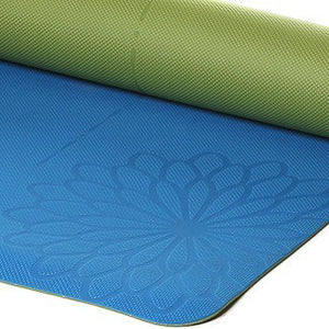 easyoga Premium Eco-care Yoga Mat Plus - B2 Blue/Green