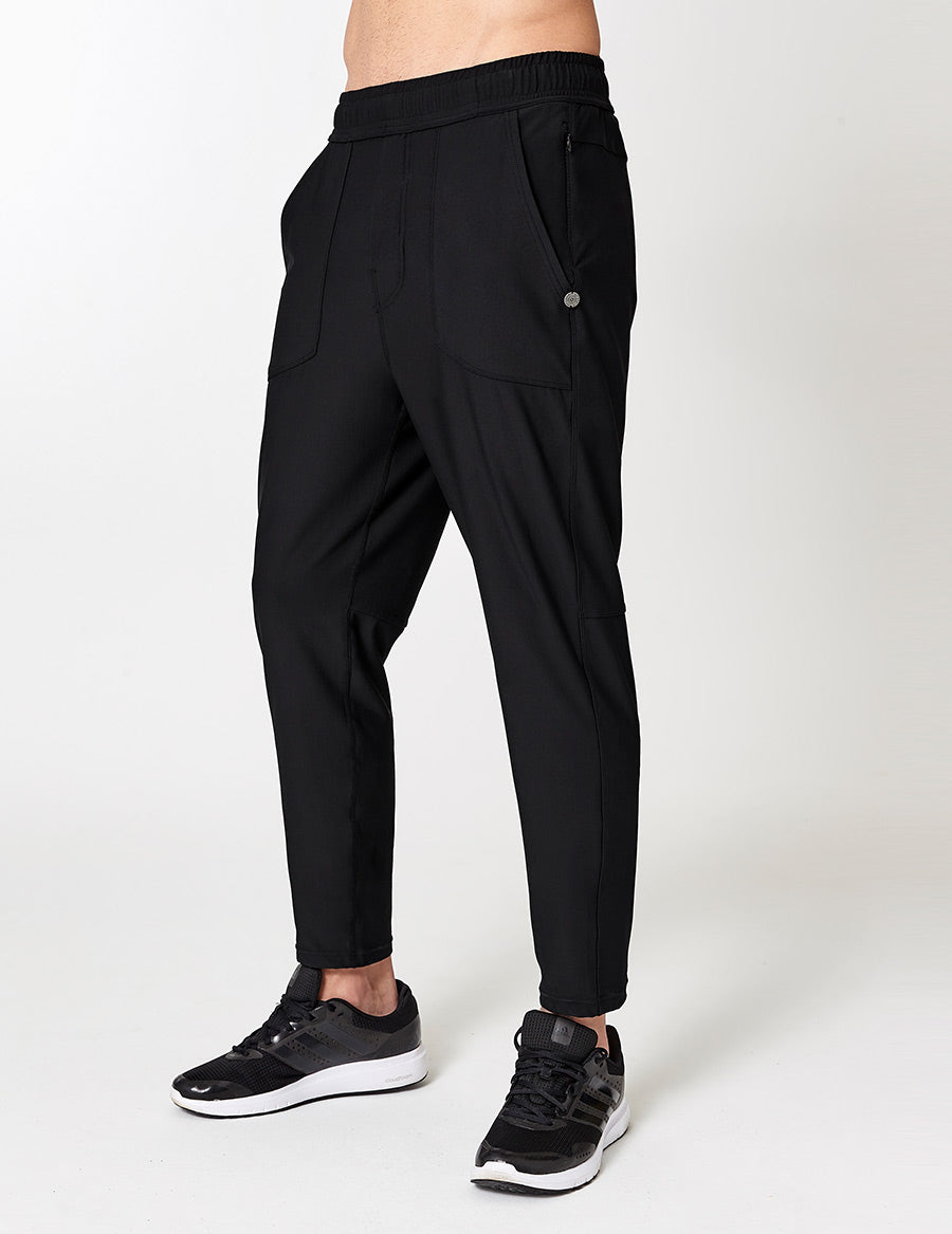 easyoga LA-VEDA Men's Pave The Way Jogging Pants - L1 Black