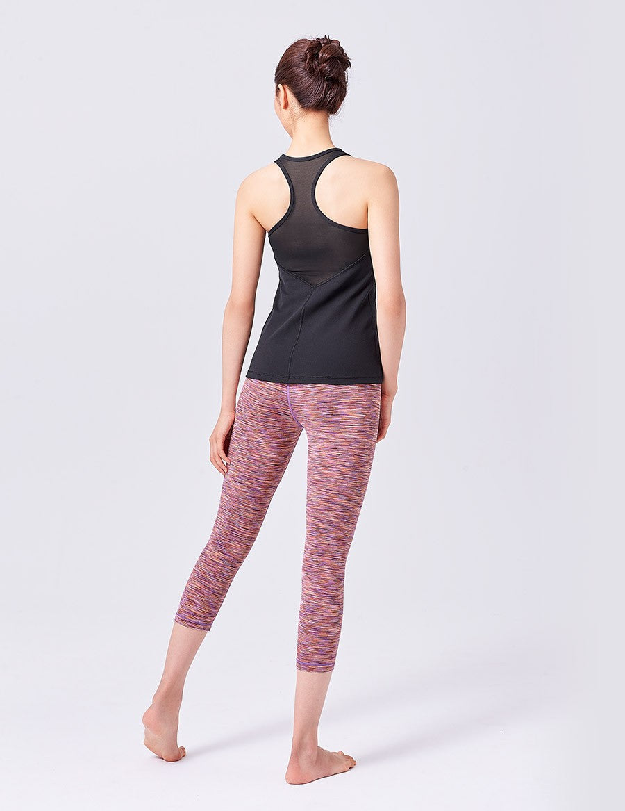 easyoga LA-VEDA Twiggy Core Capris1 - D58 Blue/Red Stripe