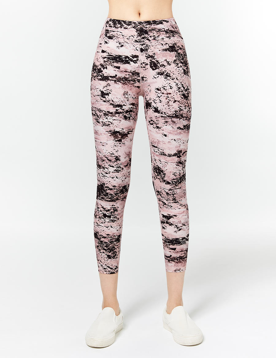 easyoga LA-VEDA Twiggy Core Cropped Tight1 - FC5 Mottled Pink