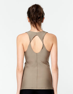 easyoga Lespiro Free To Be Tank - C09 Cement Brown