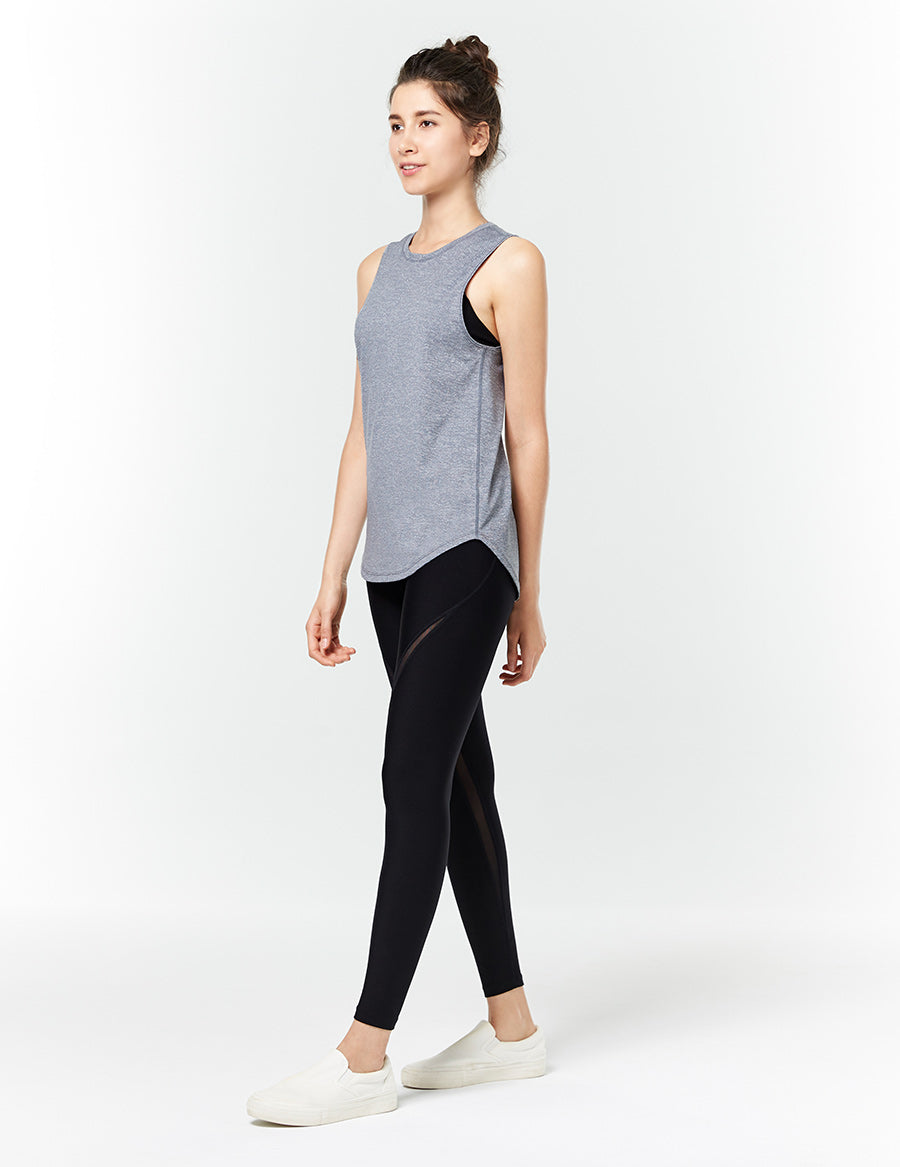 easyoga LA-VEDA Take-in Mesh Core Tights - L1 Black