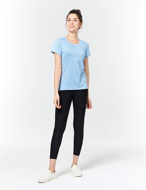 easyoga LA-VEDA Heptagon Short Sleeve - B33 Powder blue