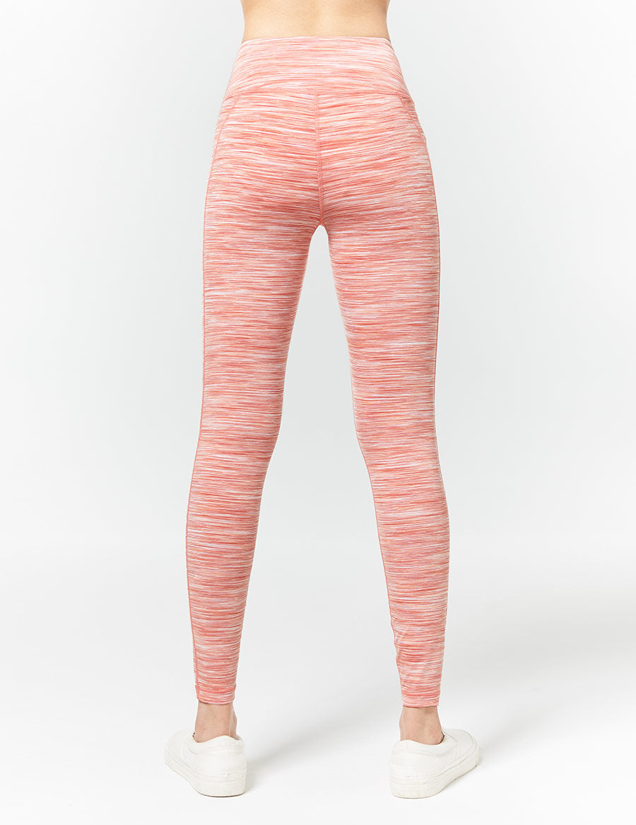 easyoga LA-VEDA Conflux Tights3 - D66 Honeydew Stripe
