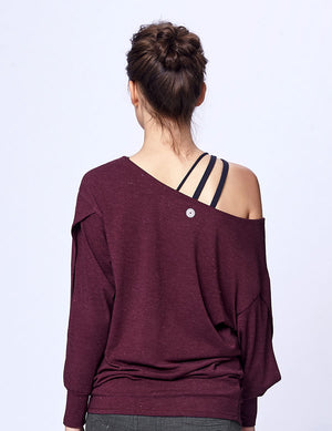 easyoga LA-VEDA Multipro Made Me Long  Sleeve - M27 M-Purple Red