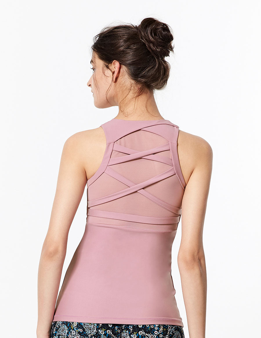 easyoga LA-VEDA Look Me Up Tank1 - P14 Dusty Rose Purple