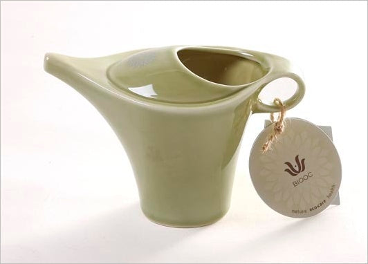 easyoga BIOOC Nano-Ceramic Neti Pot - G1 Light Green
