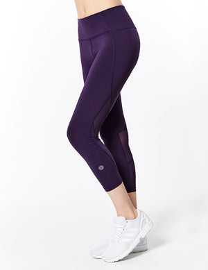 easyoga Lespiro Move Up Cropped Tights - P15 Velvet Grape