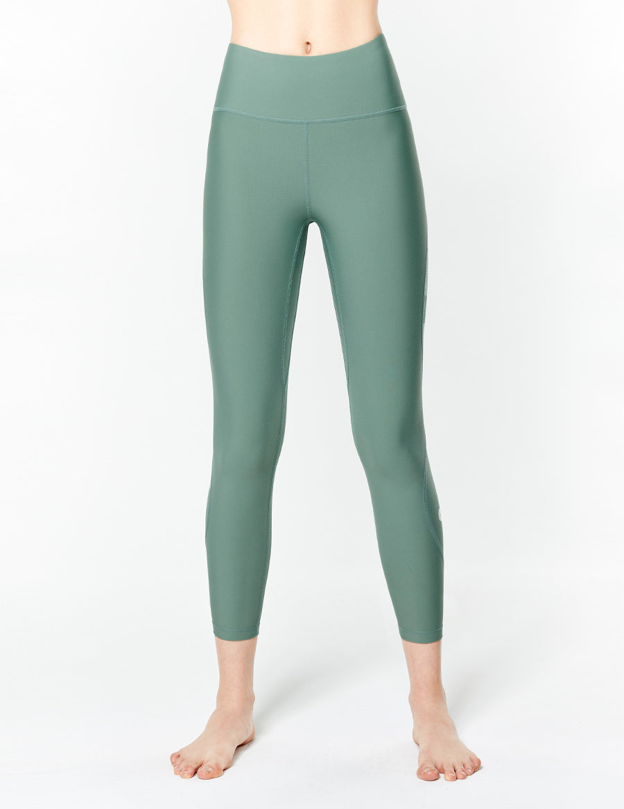 easyoga LA-VEDA All Round Cropped Tights - G05 Bean Green