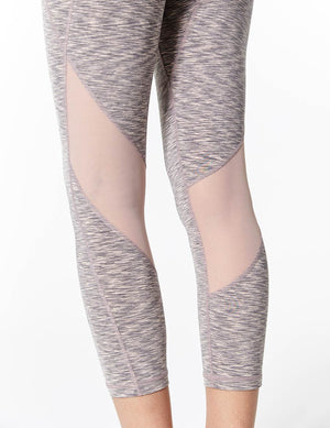 easyoga Lespiro Move Up Cropped Tights - D62 Gray Pink Strip