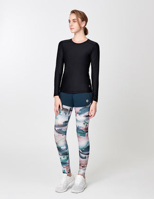 easyoga Lespiro Anti-UV Free Tights - F94 Wind Shear on Cirrus