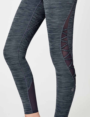 easyoga Lespiro Spiral Power Tights - M33 M-Ink Blue