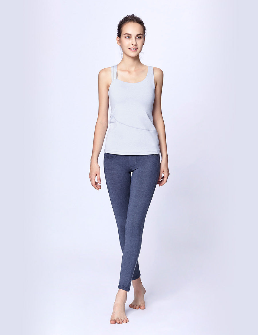easyoga LA-VEDA Up-to-the-Minute Denim Tight - J05 Jeans Blue