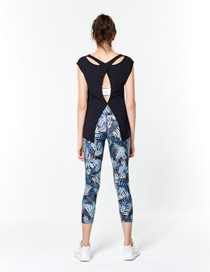 easyoga Lespiro Pace With Cropped Tights - FD4 Night Forest Blue