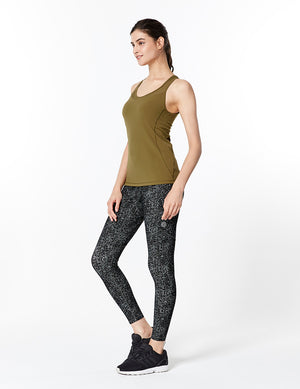 easyoga Lespiro Shellback Tank - X10 Dead Leaf Green/Light Green