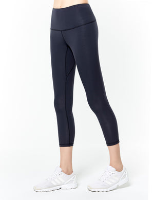 easyoga Lespiro Strike Out Cropped Tights - X13 Black/Mint Stripe