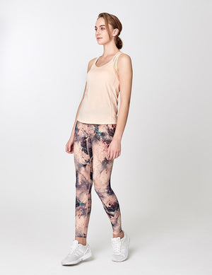easyoga Lespiro Glossy Slim Tights - FB6 Moonlight Garden