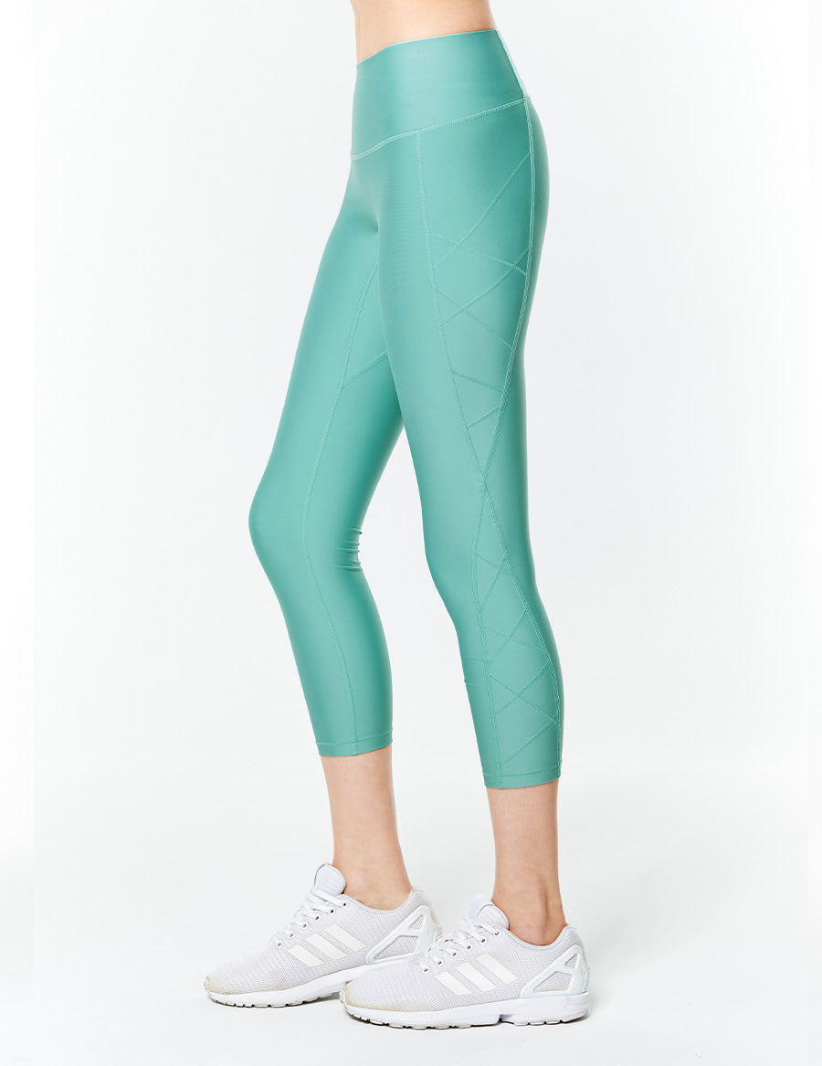 easyoga Lespiro Clamber Cropped Tights - G21 Lake Green