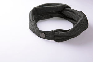 easyoga LA-VEDA Mori Retro Head Band - D51 Gray White Black Stripe
