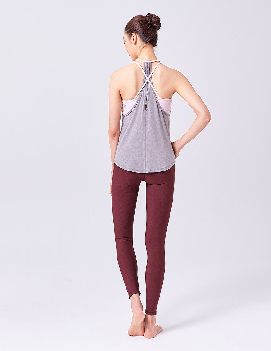 easyoga LA-VEDA Multipro Astral Layered  Tank - M7  M-Gray