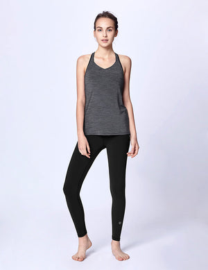 easyoga LA-VEDA Limber Up Layered Tank - M26 M-Gray Tigerstripe