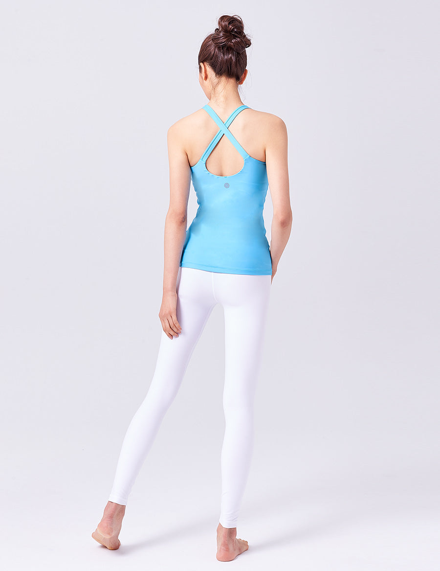 easyoga LA-VEDA Aqueous Drop Back  Tank - B28 Aquarius Blue