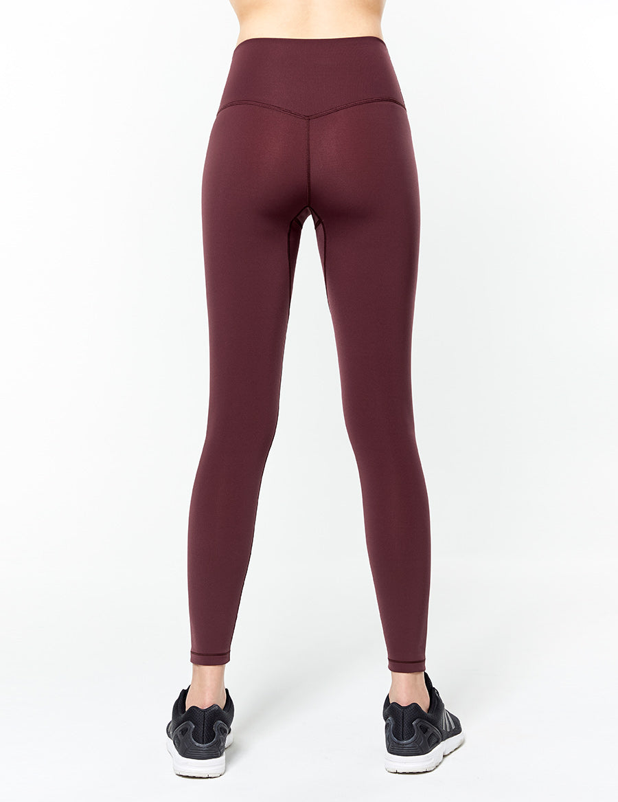 easyoga Lespiro Glossy Slim Tights2 - R24 Dark Red