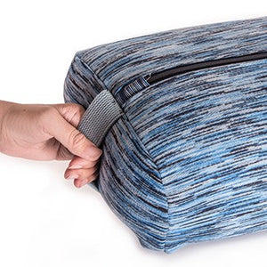 easyoga Premium Dual Handle Yoga Bolster - D31 Blue Gray Stripe