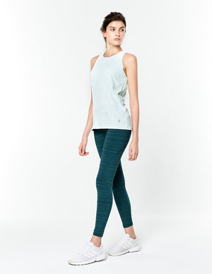 easyoga Lespiro On- Soothing Core Tights - D64 Aquamarine  Stripe