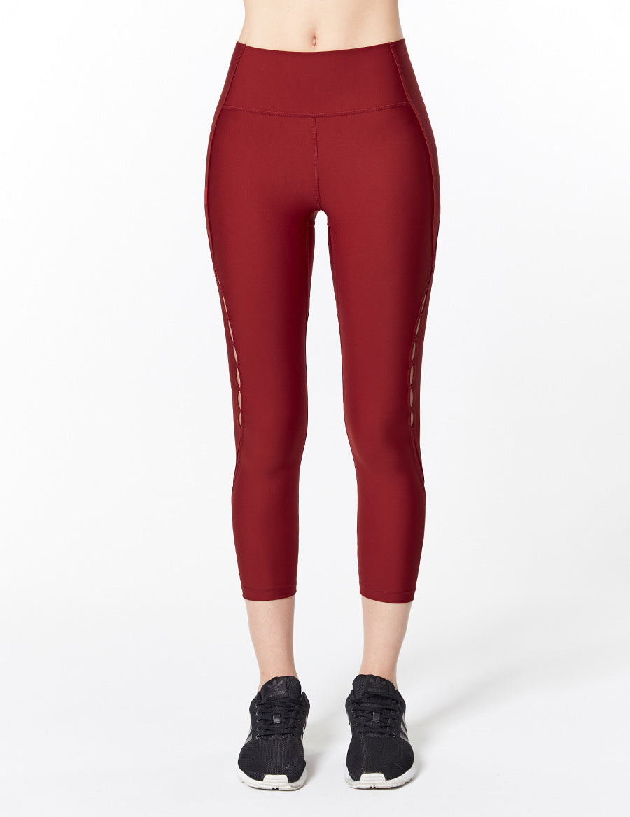 easyoga Lespiro Ripples Cropped Tights - R26 Capsicum
