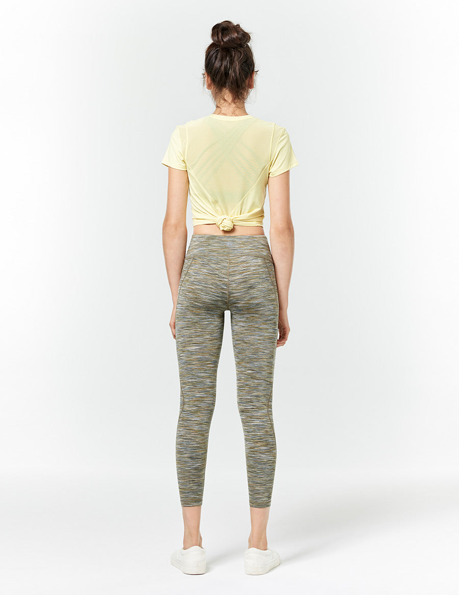easyoga LA-VEDA Heptagon Short Sleeve - Y07 Cream yellow