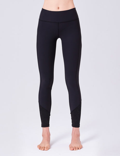 easyoga LA-VEDA Ethereal Stereomesh Core Tights - L1 Black
