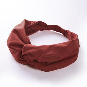 easyoga LA-VEDA Mori Retro Head Band - R20 Burgundy