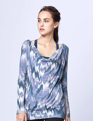 easyoga Lespiro Laid-Back Drape Top - F82 Mountain Shadow