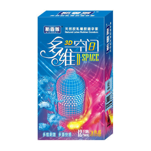 3D Dotted Condom (Hot and Cool)