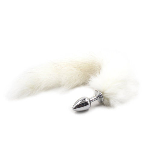 Fox Tail Anal Plug (White)