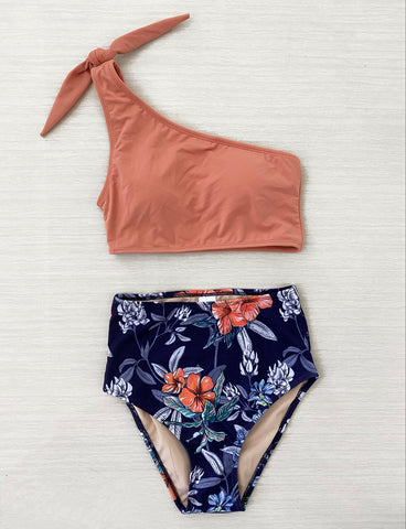 Olivia Determined Orange and Navy Hawaiian