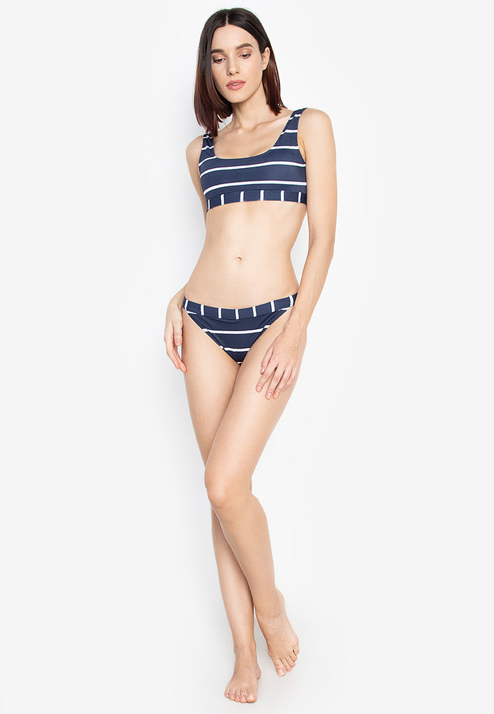 Agatha Navy And White Stripes